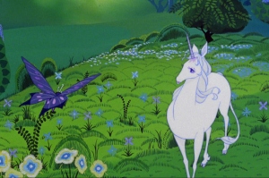 The Last Unicorn and butterfly